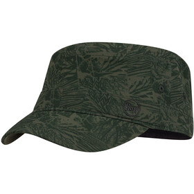 Buff Military Bonnet, checkboard moss green